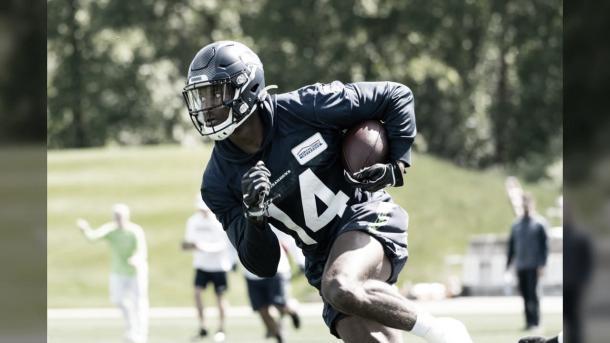 D.K.Metcalf, egresado de Ole Miss jugará para los Seattle Seahawks (Seahawks.com)