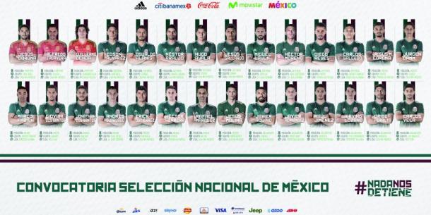 Lista de Convocados de la Selección Mexicana de Fútbol | Imagen: FMF