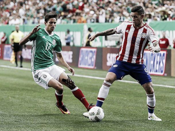Mexico last faced Paraguay in a 1-0 win in Atlanta last year. Photo: FOX Sports
