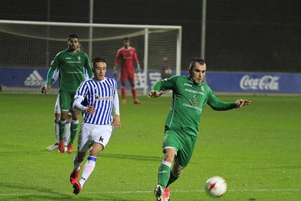 Encuentro de la primera vuelta, entre Real Sociedad B y Sociedad Deportiva Gernika (fuente SD Gernika)