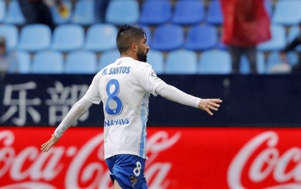 Michael Santos será importante para el Málaga en segunda división / Málaga CF