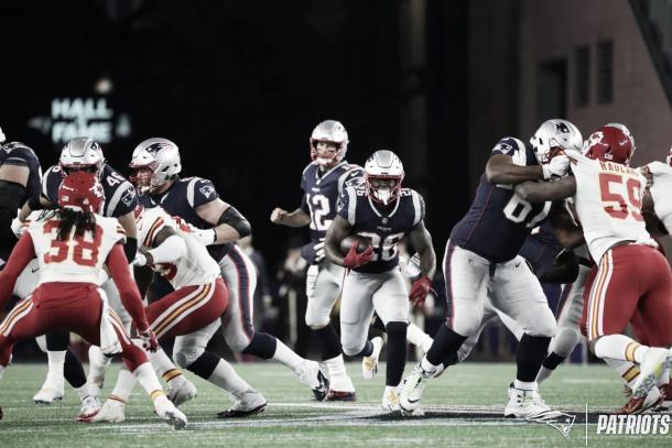 La primera ronda de los Patriots, Sony Michel, comienza a dar sus frutos | Foto: Patriots.com