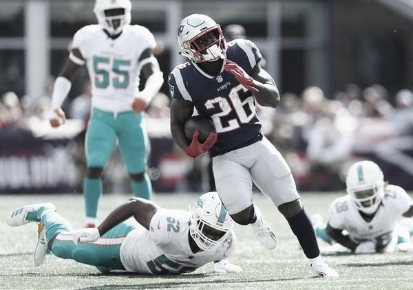 Sony Michel debió someterse a una artroscopía en su rodilla // Foto: New England Patriots.