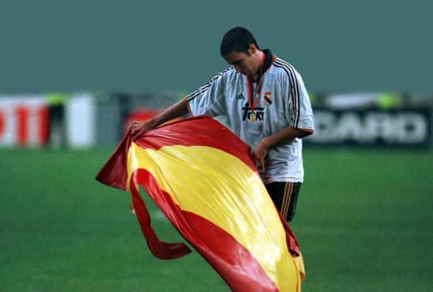 Raúl González Blanco fue el autor del tercer y último gol de la final de la Champions ante el Valencia   Fuente: realmadrid.com
