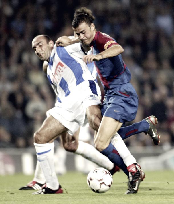 Abelardo contra Luis Enrique Fotografía Miguel Ruiz FCB