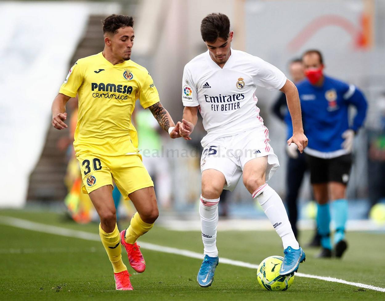 Miguel, en el Real Madri-Villarreal. Fuente: Real Madrid
