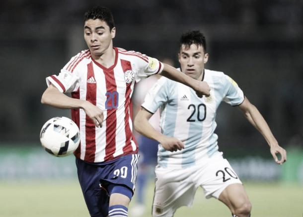 Almiron, one of the new breeds for the Paraguay national team. Photo: ABC Color
