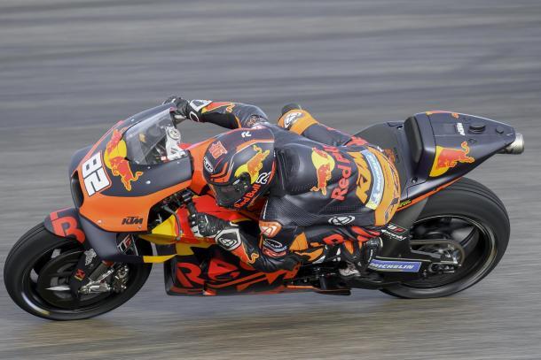 Mika Kallio, corriendo ya en el lugar de Zarco durante el GP de Aragón. Imagen: MotoGP