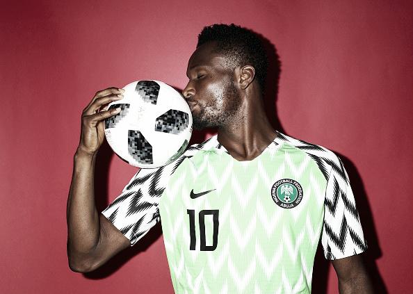 John Obi Mikel na sessão de fotos da Copa do Mundo 2018 (Fonte:Getty Images)
