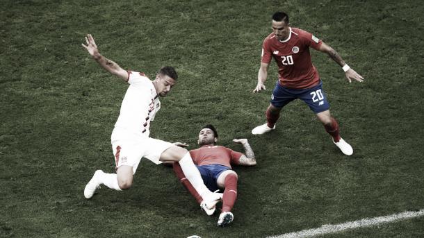 Milinkovic-Savil contra Costa Rica. | Fuente: Federación Serbia
