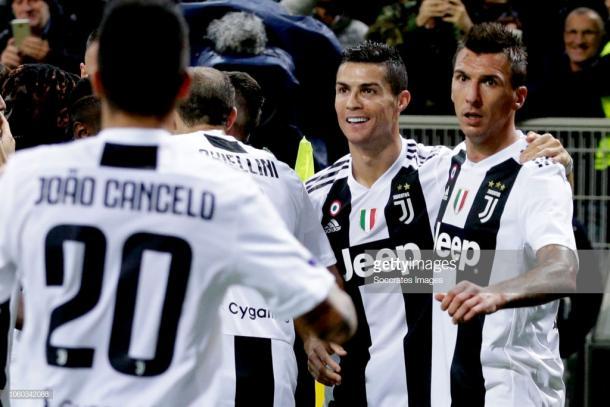 Cristiano Ronaldo y Mandzukic, protagonista del partido / Foto: gettyimages