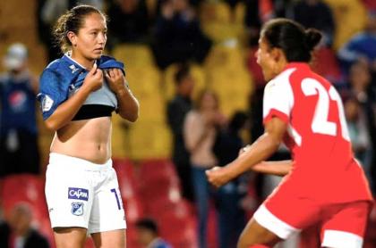 Santa Fe, con gol de Natalia Torres, derrotó a Millonarios 0-1 en el segundo clásico de la historia. Imagen: @SantaFe.