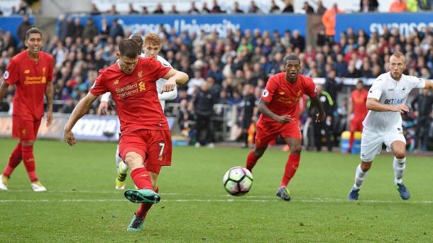 Il rigore decisivo di Milner in Galles, www.premierleague.com