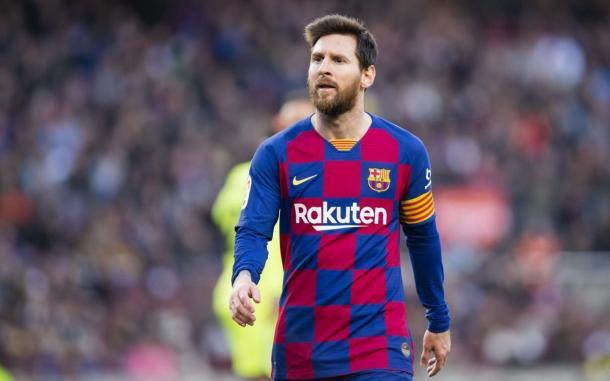 Leo Messi en un partido ante el Getafe en el Camp Nou| Fuente: FC Barcelona
