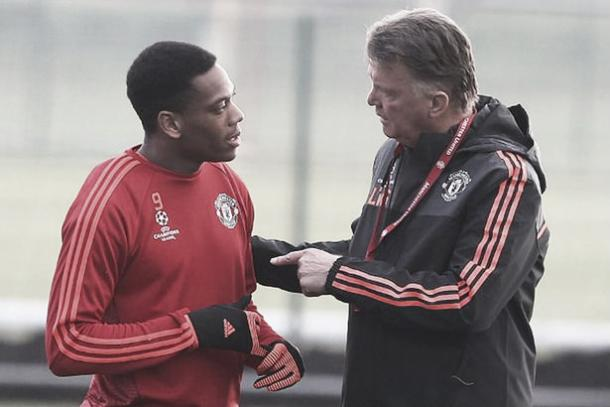 Martial credited former United manager Louis Van Gaal with his development (Source:Mirror)