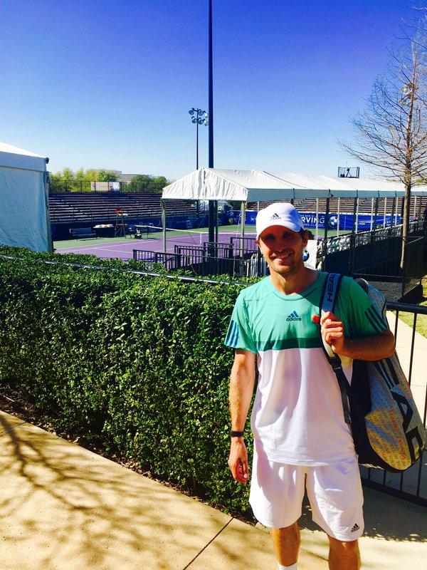 Mischa Zverev on the ITC grounds (Photo: @IrvingClassic)