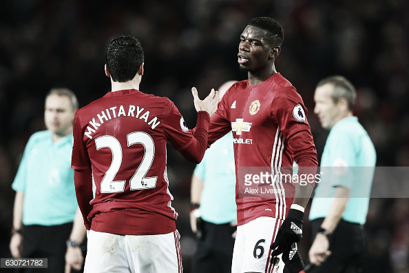 Henrikh Mkhitaryan and Paul Pogba have been outstanding of late (Photo: Alex Livesey / Getty Images)