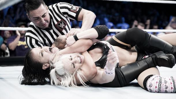 Baszler impressed again. Photo-WWE.com