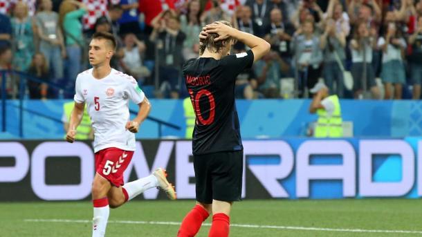Modric lamenta perda de pênalti, mas sairia contente com resultado. Foto: FIFA/Getty Images