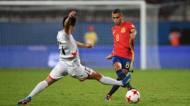 Moha en el partido contra Corea del Norte, donde marcó el primer gol I Foto: FIFA