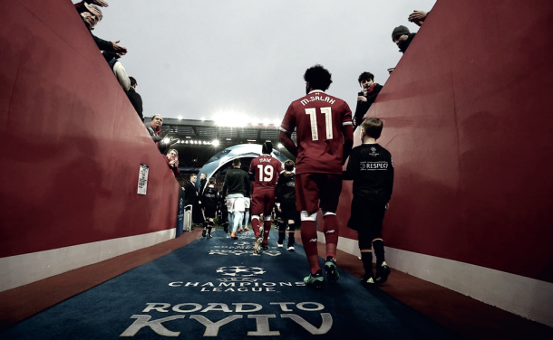 Mohamed Salah puede llegar a 25 partido en Champions League   Foto: UEFA