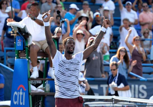 Monfils at the Citi Open (Photo by Grant Halverson/Getty Images)