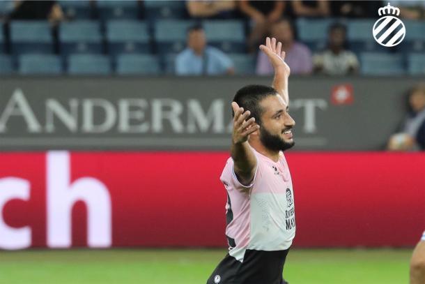 Vargas celebra su gol ante el FC Luzern | Foto: RCD Espanyol