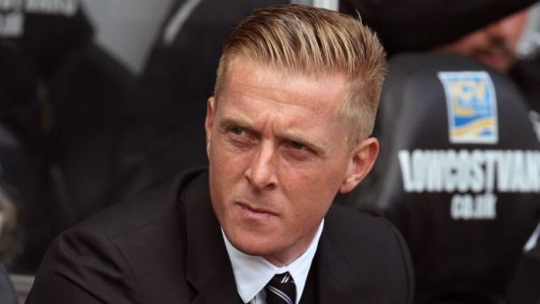 Could Monk, pictured on the Swansea bench, take charge at Villa? (photo: getty)