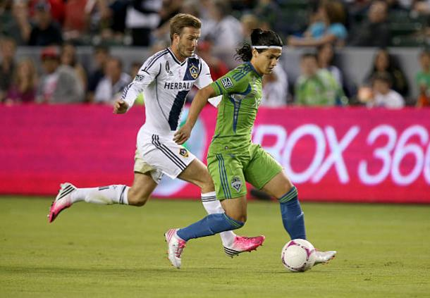 Fredy Montero in action with the Seattle Sounders. | Photo: Stephen Dunn/Getty Images