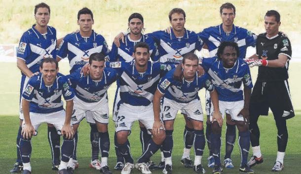 Once inicial que consiguió el ascenso en Montilivi. Temporada 2008-2009