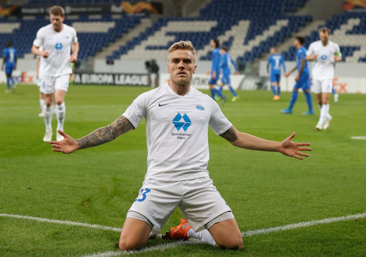 Ulland Andersen, verdugo del Hoffenheim / FOTO: @EuropaLeague