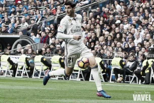 Álvaro Morata en uno de sus últimos partidos con la camiseta blanca I Foto: Daniel Nieto (VAVEL)
