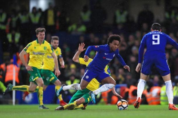 William contra el Norwich; FUENTE: Chelsea.com