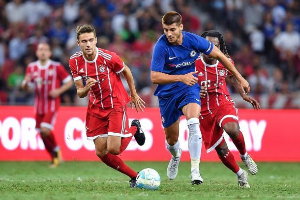 Morata in azione contro il Bayern | Foto: The Times