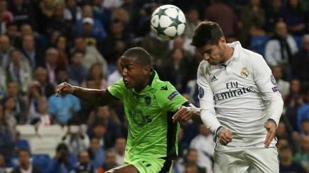 Il colpo di testa vincente contro lo Sporting Lisbona, www.gazzetta.it