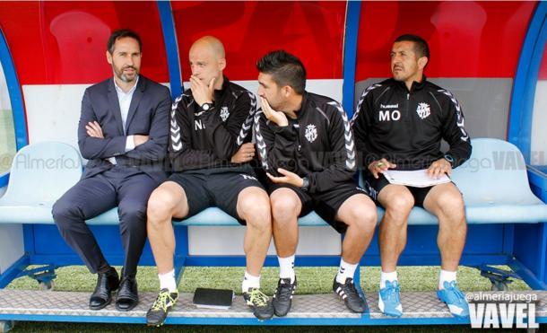Con Moreno al mando, el Nàstic se ha encontrado a sí mismo | Foto: @almeríajuega (VAVEL)