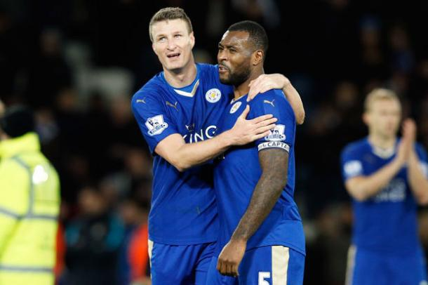 The forms of Wes Morgan and Robert Huth were key to Leicester's title triumph last season | Photo: Getty