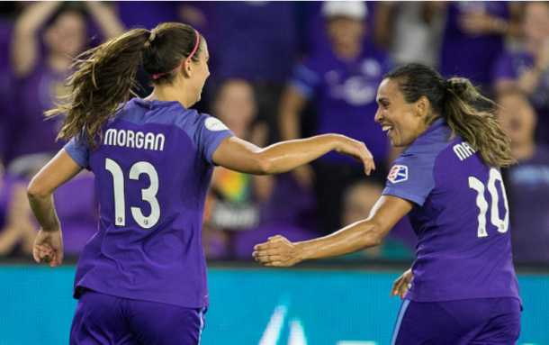 Morgan and Marta combined for 22 goals for the Orlando Pride during the 2017 season. | Photo: Joe Petro - Icon Sportswire via Getty Images