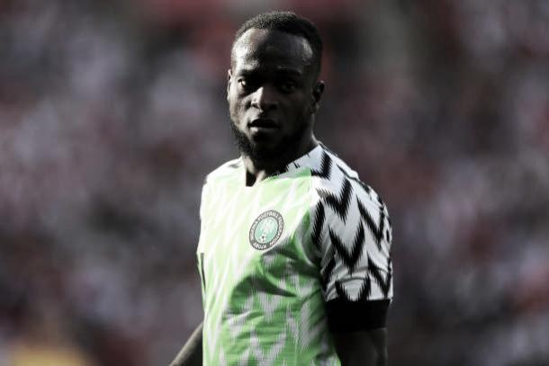Moses em ação na preparação da Nigéria para a Copa do Mundo 2018 (Fonte:Getty Images)