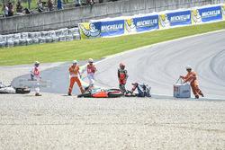 Crash involving Bautista, Baz and Miller at Turn  1 of Mugello - www.motorsport.com