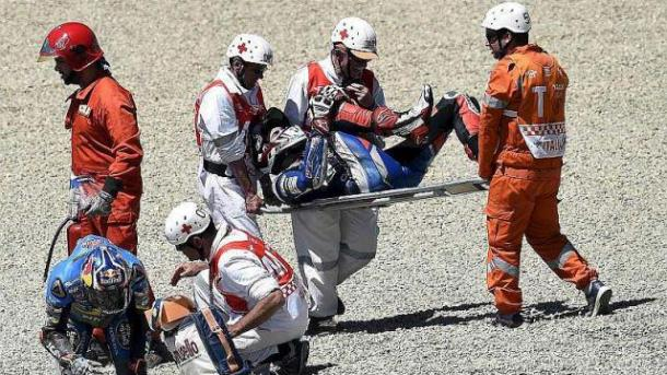 Baz clearly in pain following incident at Mugello GP - www.ouest-france.fr