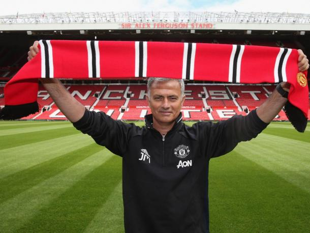 Jose Mourinho during his official unveiling as Manchester United manager | Photo: Getty