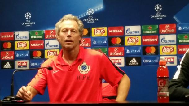 Preud'Homme in conferenza stampa - Foto UEFA Champions League