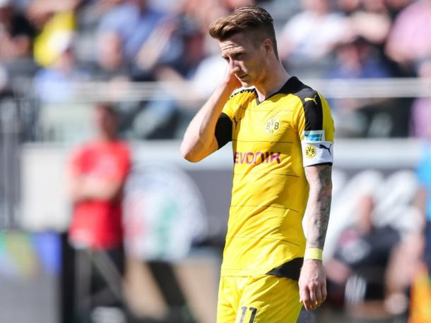 It was a disappointing day at the office for Marco Reus and his team. | Image source: kicker - Getty Images