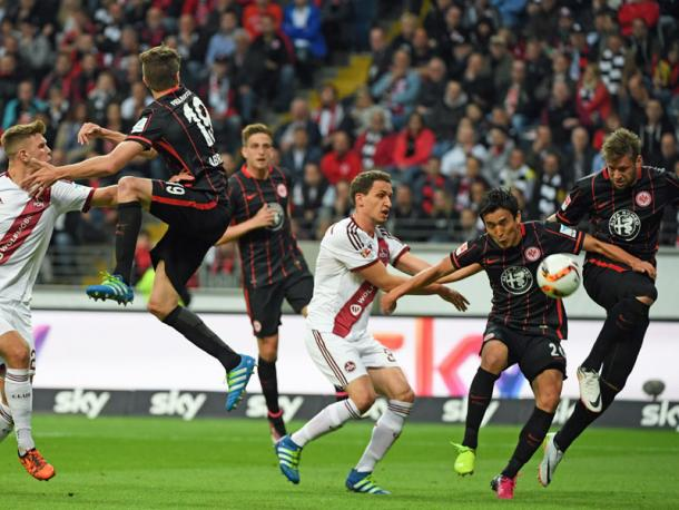 Can Frankfurt make Marco Russ' unfortunate own-goal meaningless in Nürnberg? | Image source: kicker - Getty Images