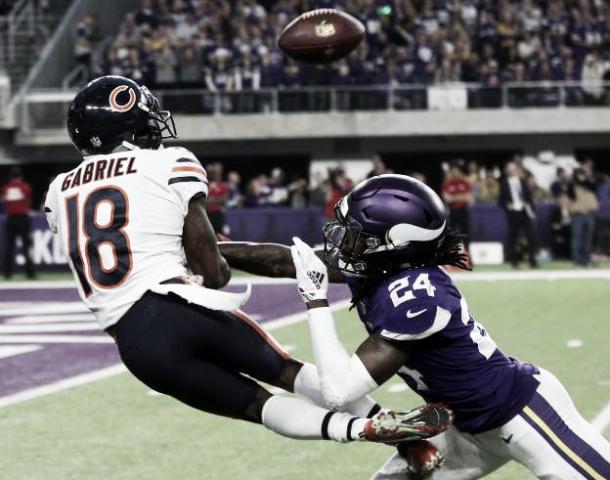Taylor Gabriel fue el WR más destacado en Chicago con 4 recepciones para 61 yardas | Foto: msn.com