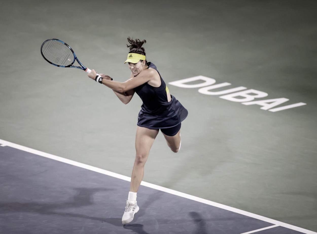 Garbiñe Muguruza Dubai Tennis Champs @DDFTennis