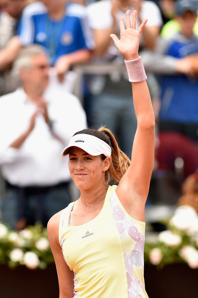 Happier times for Muguruza in Rome (Photo by Dennis Grombkowski / Getty Images)