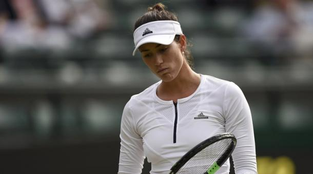 A dejected Muguruza at Wimbledon (Source : Reuters)