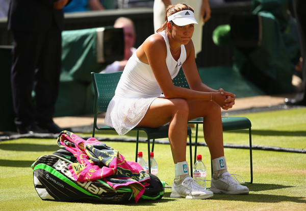 A dejected Muguruza following her Wimbledon final defeat to Serena Williams (Photo by Clive Brunskill / Source : Getty Images)